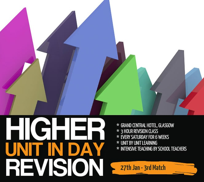 Higher Unit in a day Glasgow Revision Course