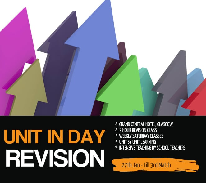 Glasgow Weekly Revision Course - UNIT IN DAY