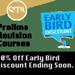 Prelim Early Bird Discount Ending 14th October